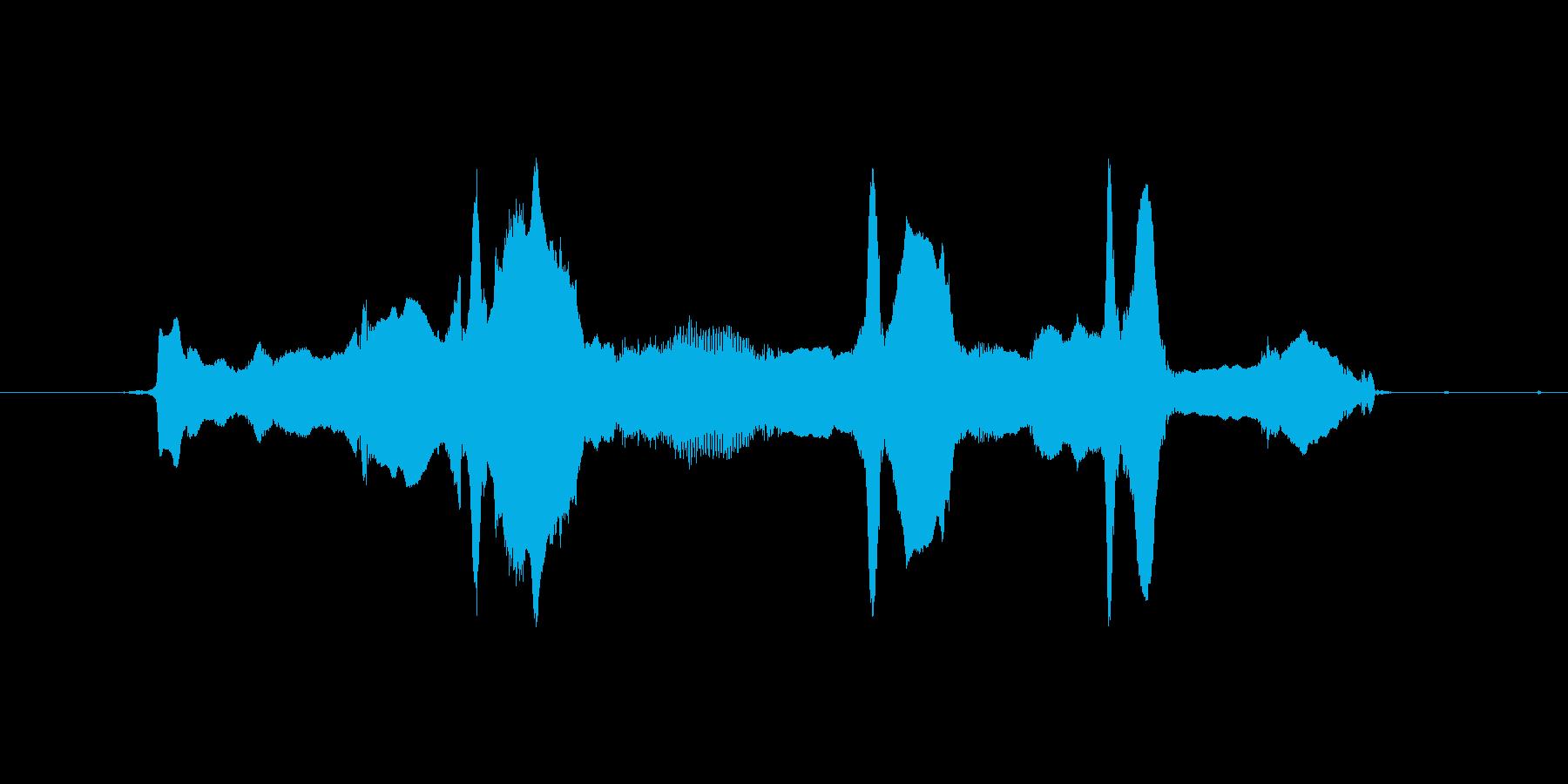 うわ~ん、うわ~んの再生済みの波形