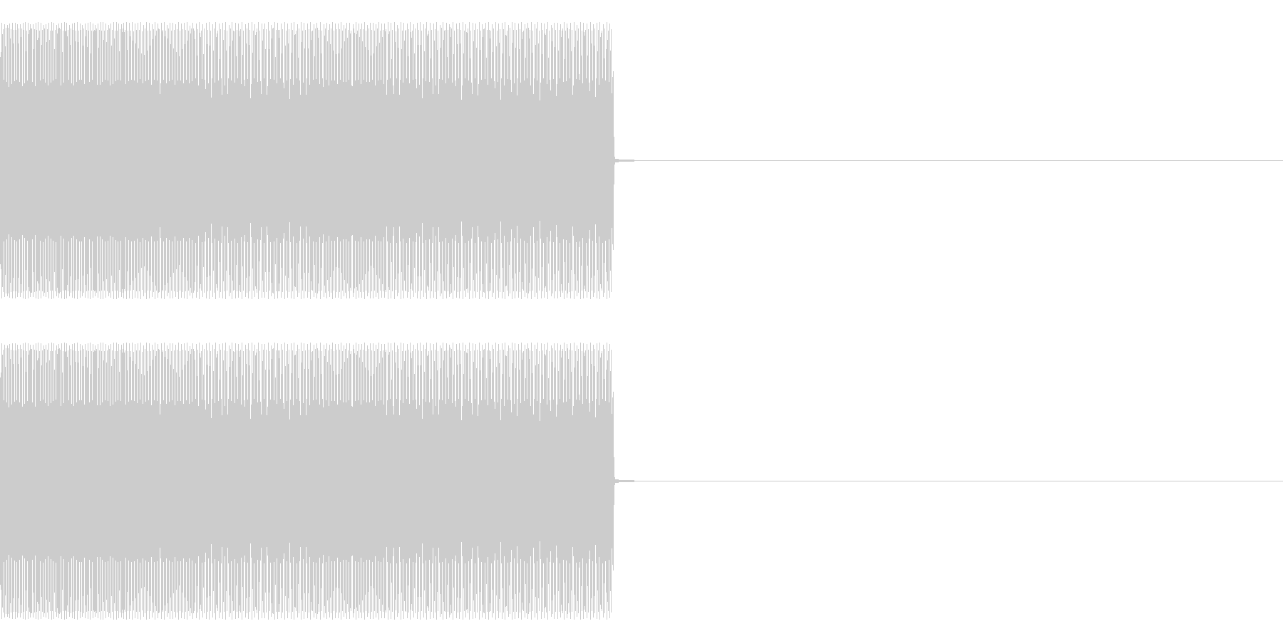ティーロリロリーの未再生の波形