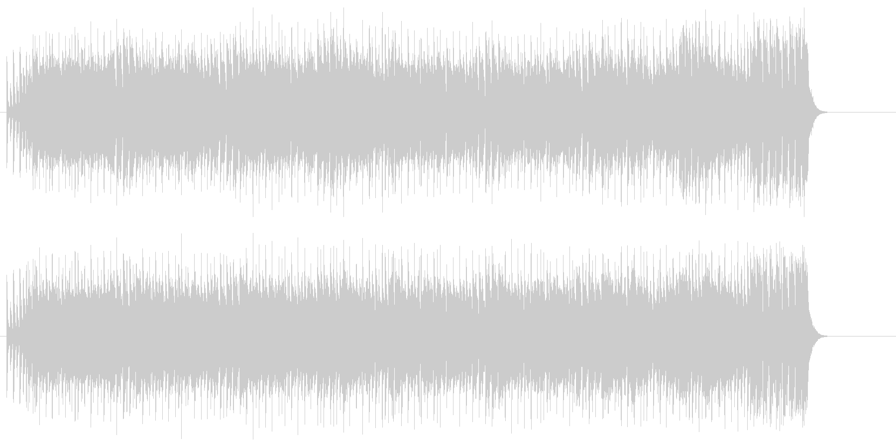 コミカルな弾むリズムのバラエティポップスの未再生の波形