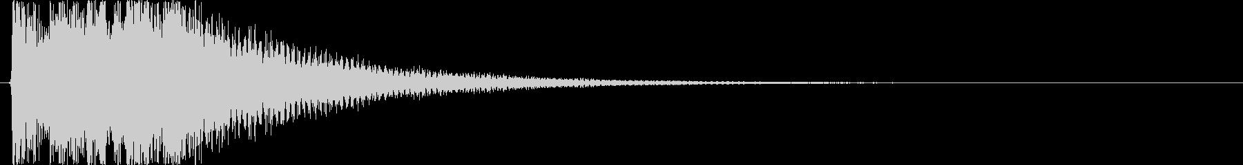 お正月・和風イメージボタン音(上昇)の未再生の波形