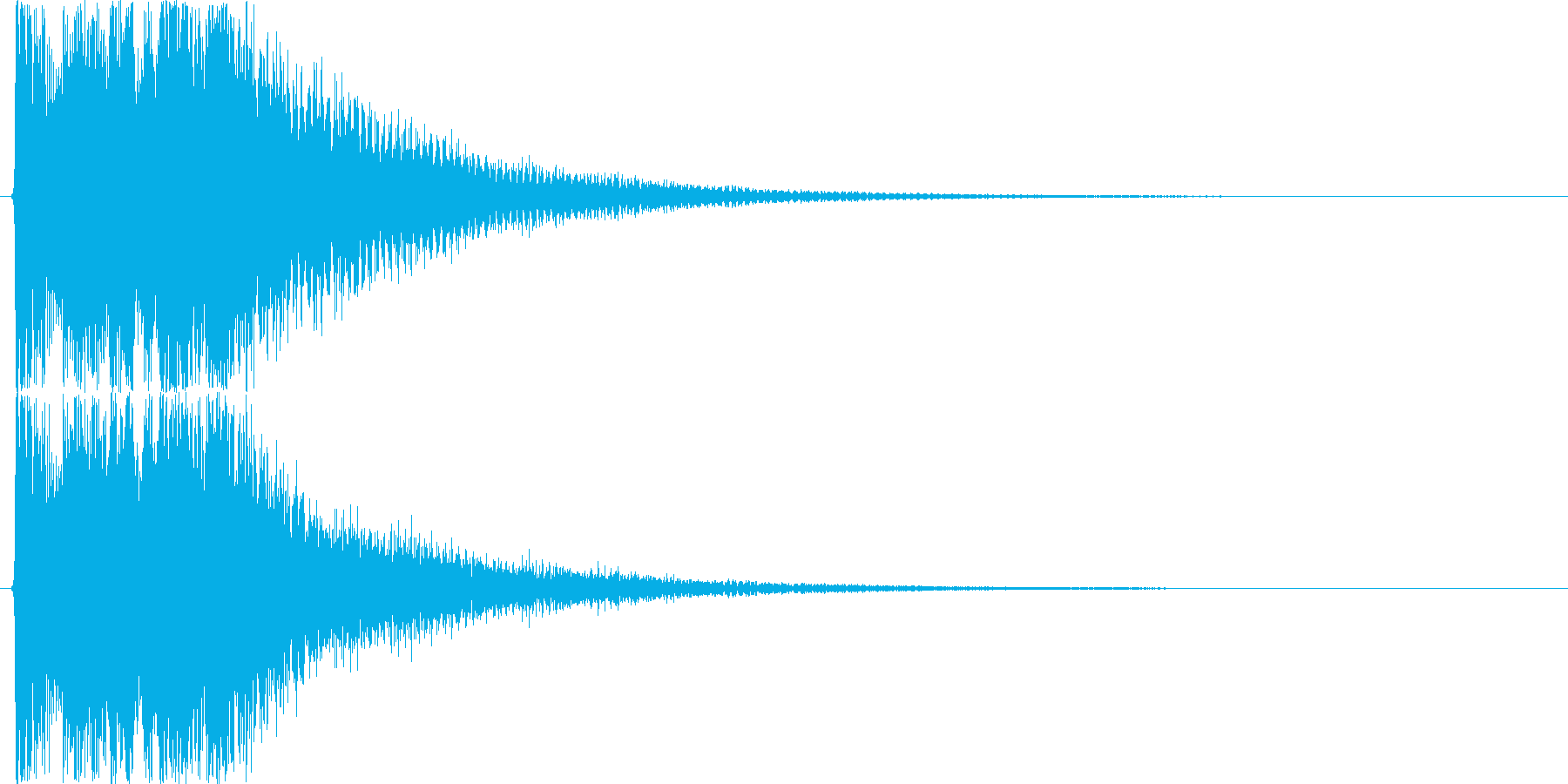 お正月・和風イメージボタン音(上昇)の再生済みの波形