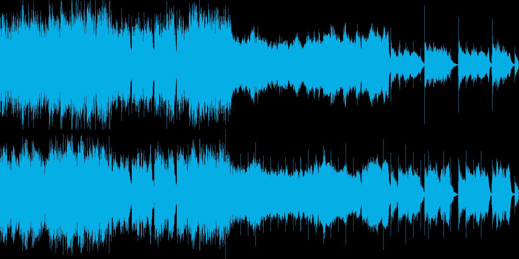 神的な何かと重要な会話中のBGMの再生済みの波形