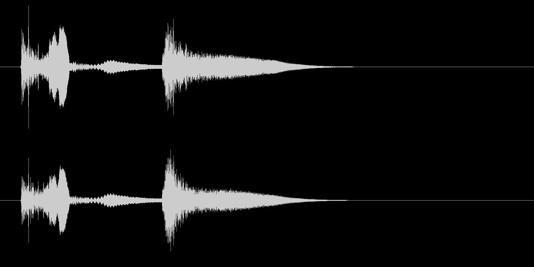 【SE 効果音】ネジが飛ぶ音の未再生の波形