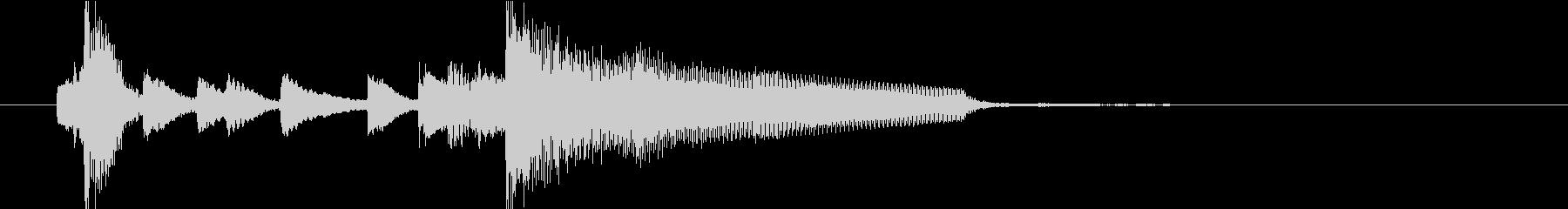 ジングル(ジャジー4)の未再生の波形