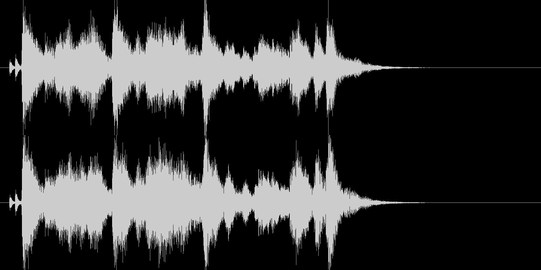 にぎやかでわくわくする雰囲気のジングルの未再生の波形