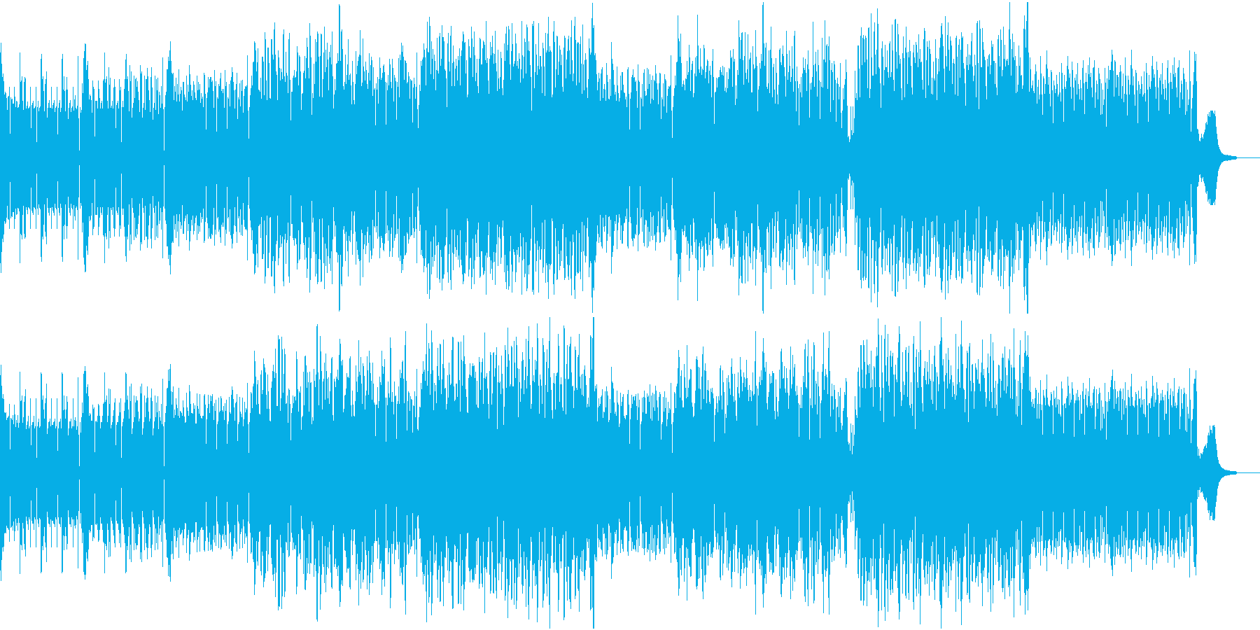 ポップスなメロディーの明るい未来的な曲の再生済みの波形