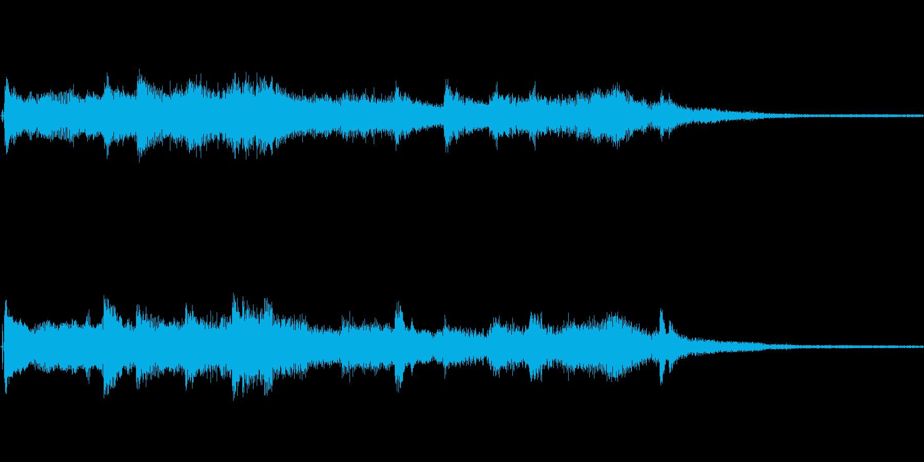 夏やひまわりをイメージしたジングルの再生済みの波形