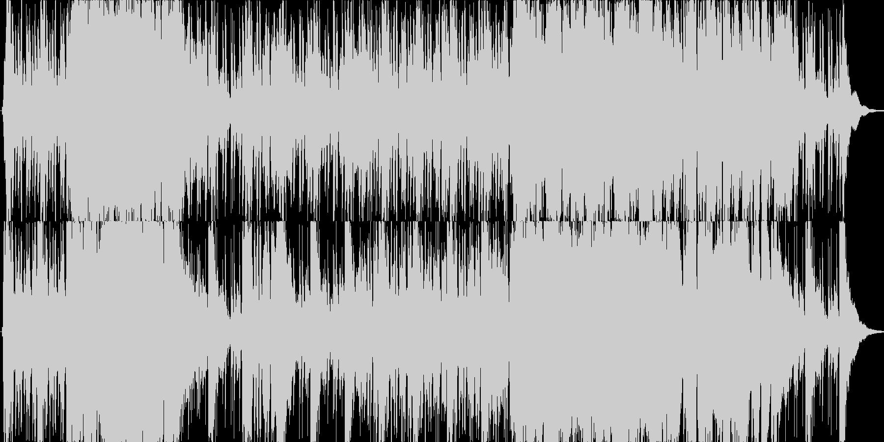 爽やかで軽快なリズムのオーケストラの未再生の波形