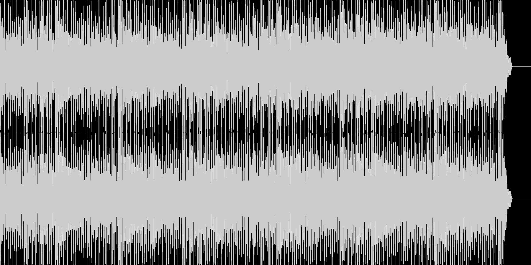 ワクワクするようなゲーム音楽風テクノの未再生の波形