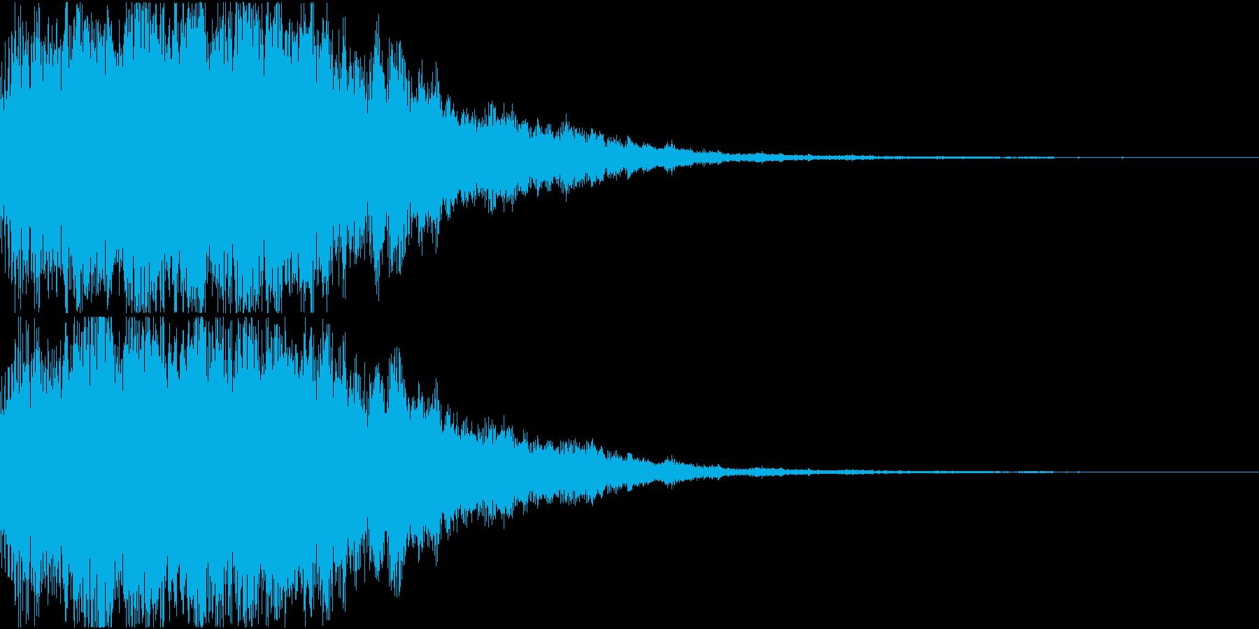 サウンドロゴ01(電子音)の再生済みの波形