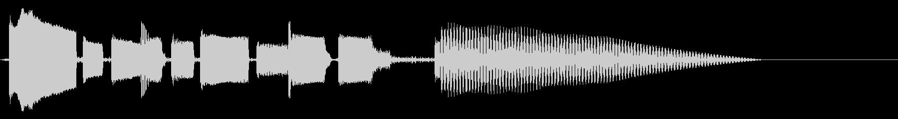 ほのぼのまったりなベースのみのジングルの未再生の波形