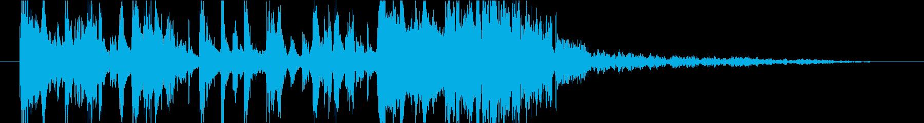 【ジングル】軽快でファンキーなテクノの再生済みの波形
