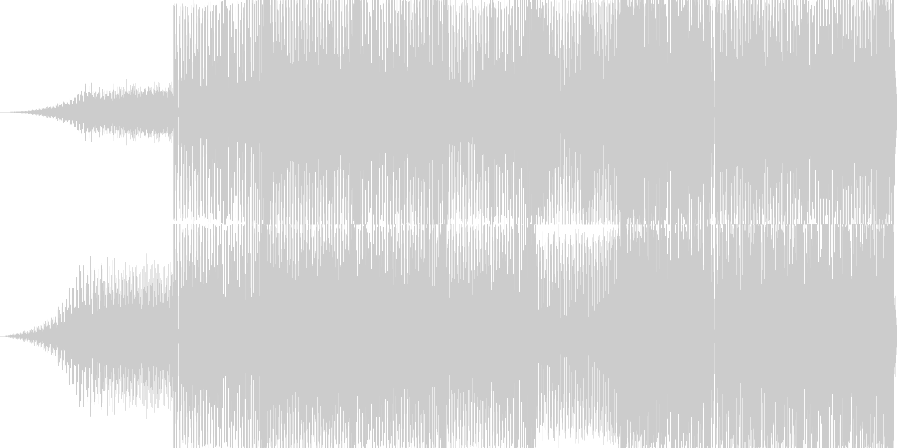 月面を宇宙飛行士がピョンピョン跳ねなが…の未再生の波形