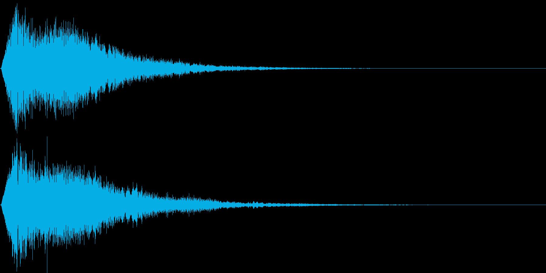 決定音(キュリリン)の再生済みの波形