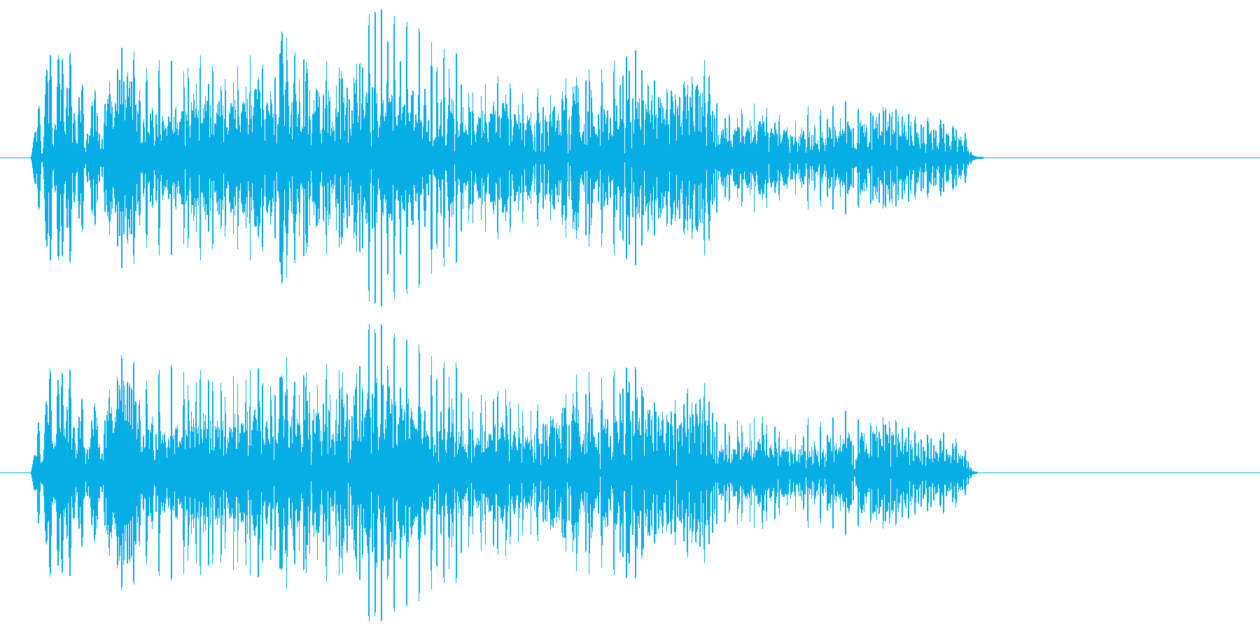 ポヤヤ〜ン(レトロでユニークな効果音)の再生済みの波形