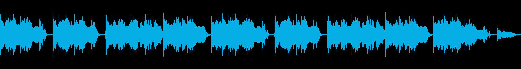 クリスマスに使える優しいBGMの再生済みの波形