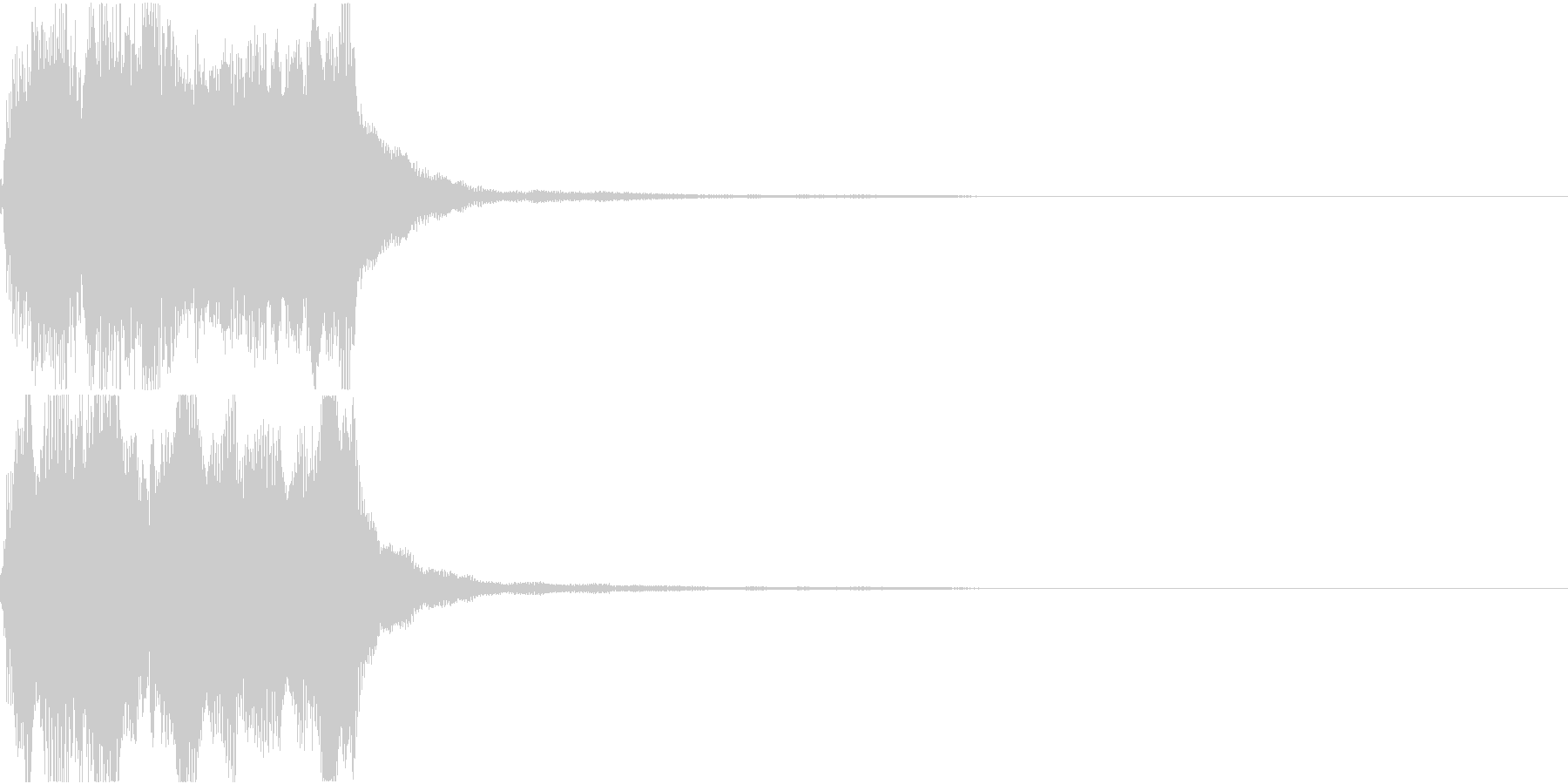 ラッパ ファンファーレ 定番 9の未再生の波形