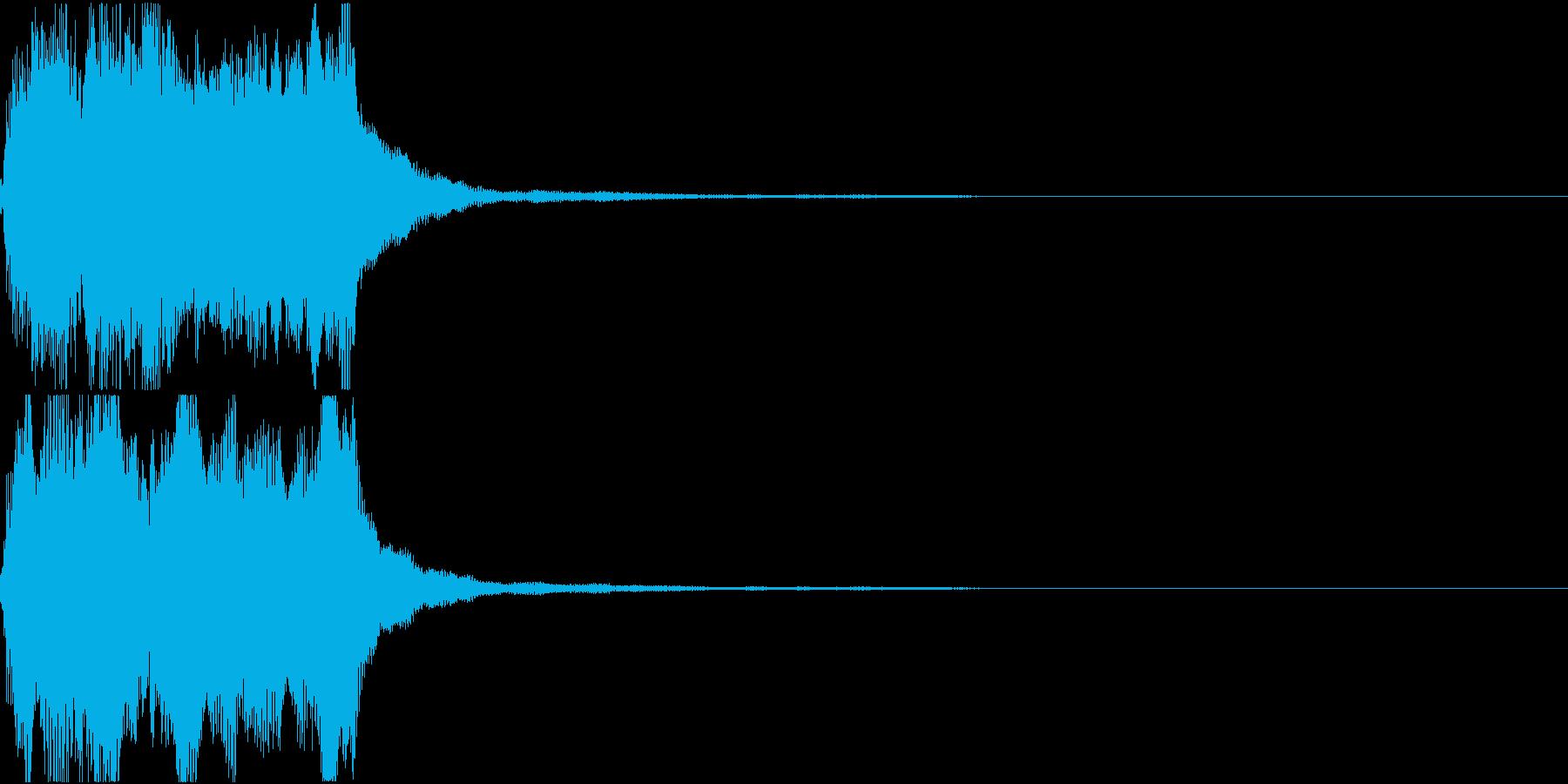ラッパ ファンファーレ 定番 9の再生済みの波形