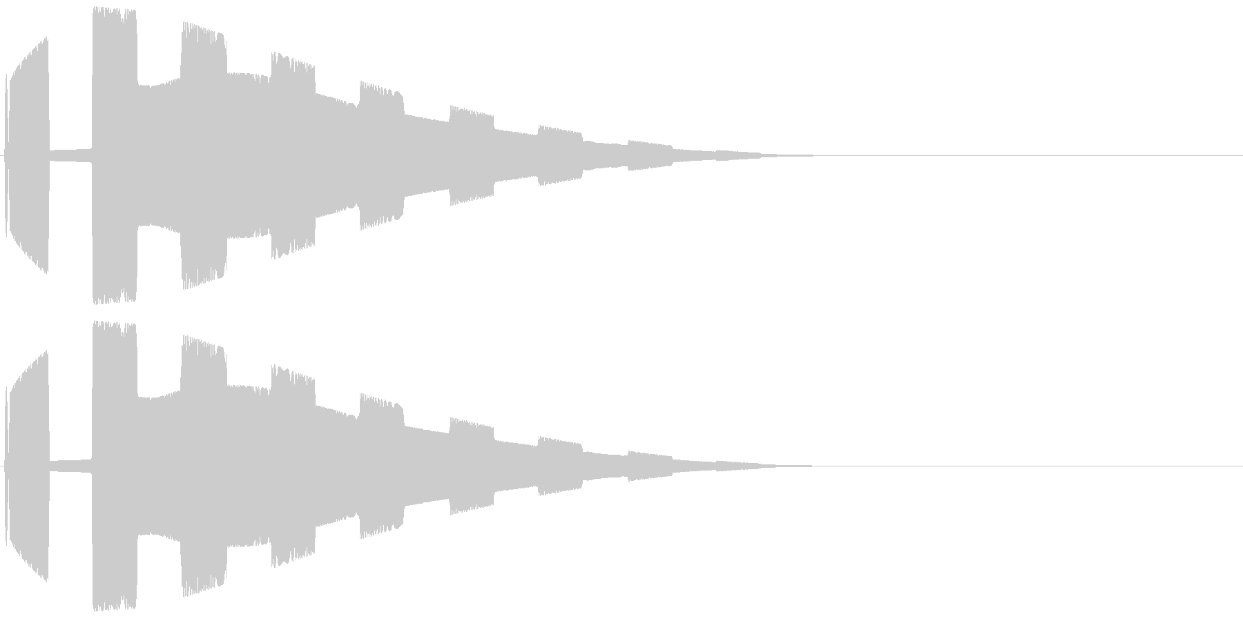 SFレーダー音(敵接近警告音01)の未再生の波形