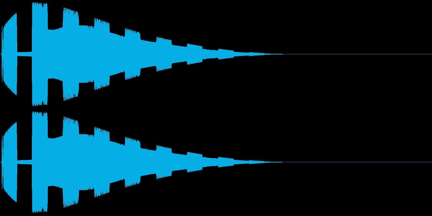 SFレーダー音(敵接近警告音01)の再生済みの波形