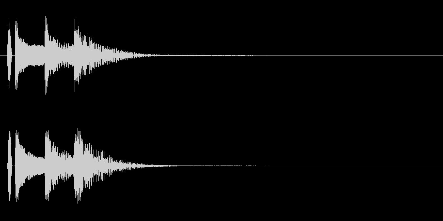 マリンバ。決定音やキャンセル音。タタタンの未再生の波形