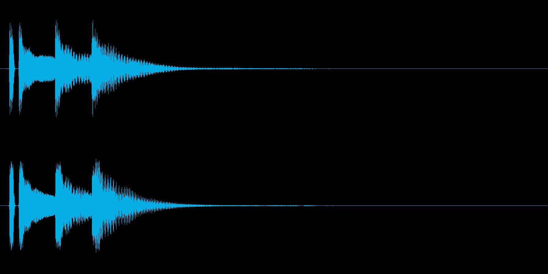 マリンバ。決定音やキャンセル音。タタタンの再生済みの波形
