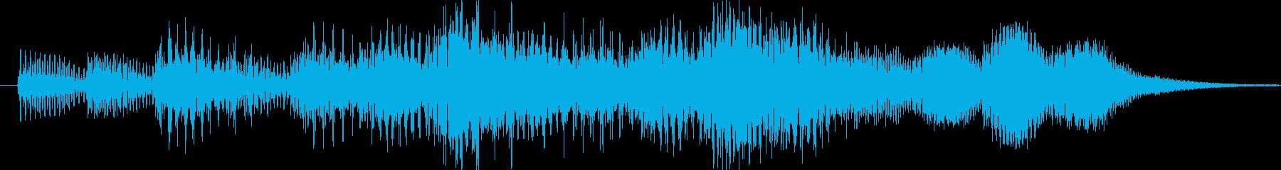 効果音的なワンポイント音です。の再生済みの波形