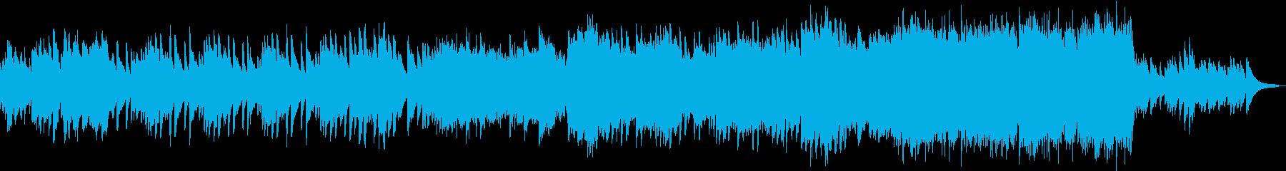 ケルトっぽい哀愁のあるBGMの再生済みの波形