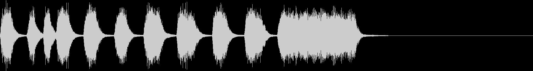 シンプル トランペット ファンファーレGの未再生の波形