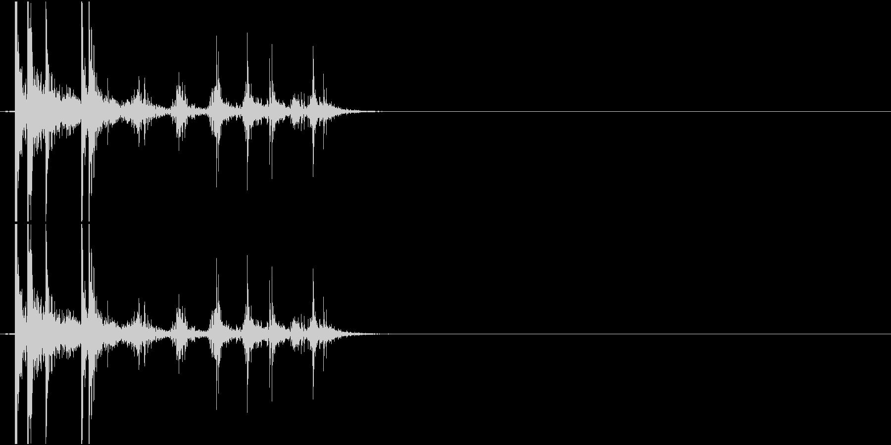 Coin 硬貨を投げ置く音 チップの未再生の波形