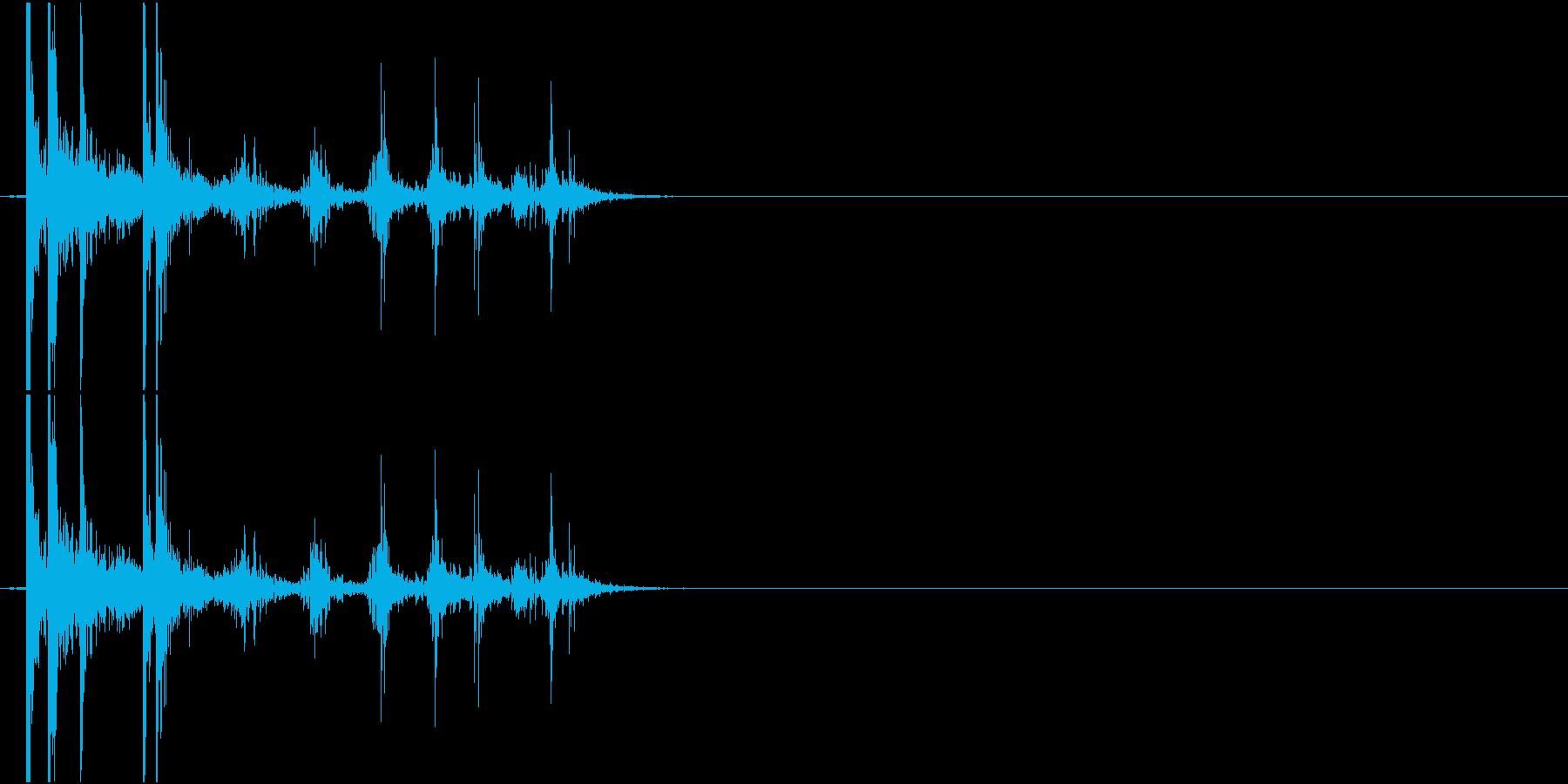 Coin 硬貨を投げ置く音 チップの再生済みの波形
