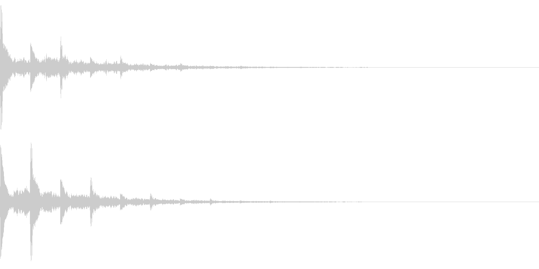 【改訂】効果音 響くピアノ トーンの未再生の波形