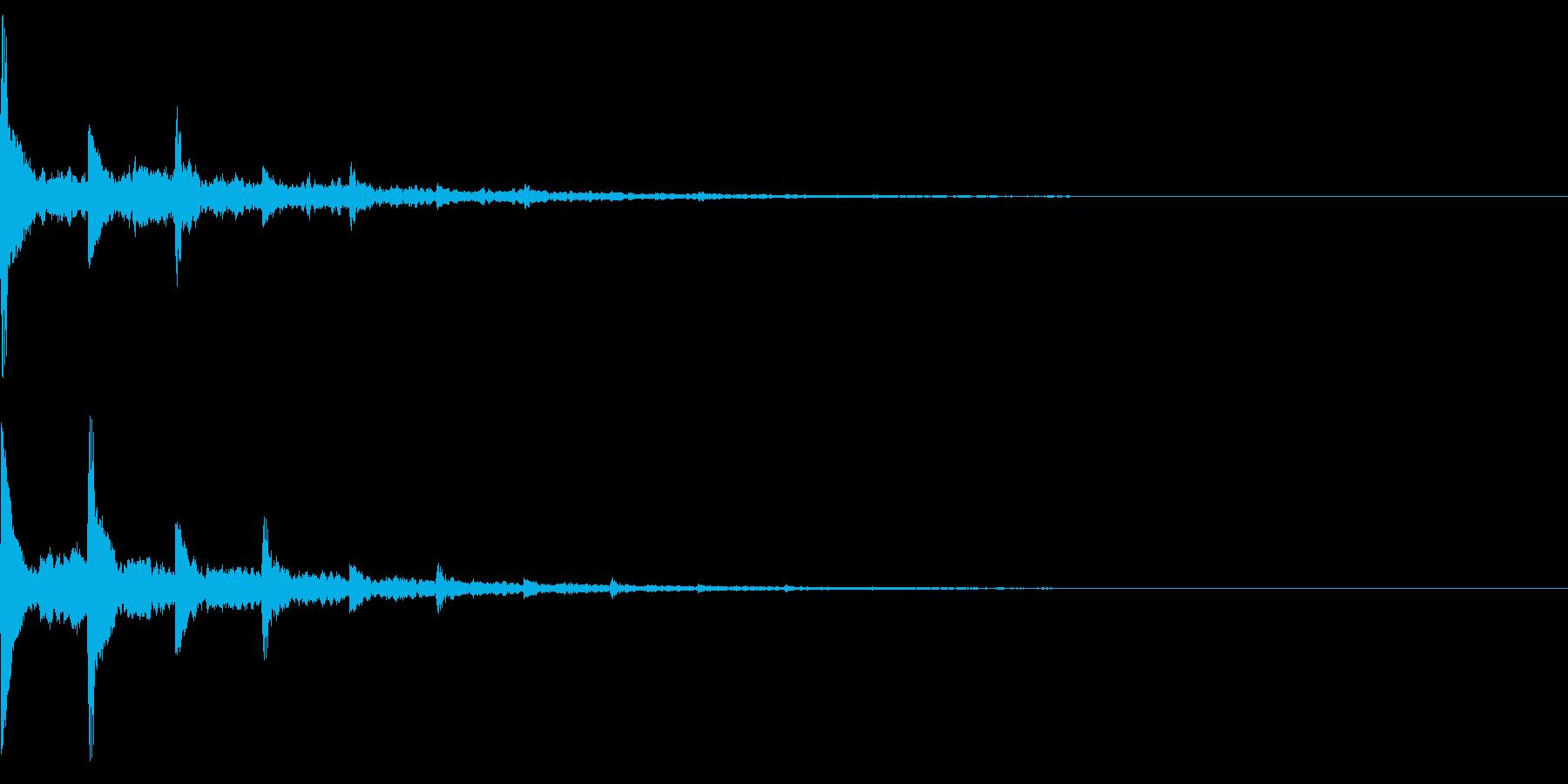 【改訂】効果音 響くピアノ トーンの再生済みの波形