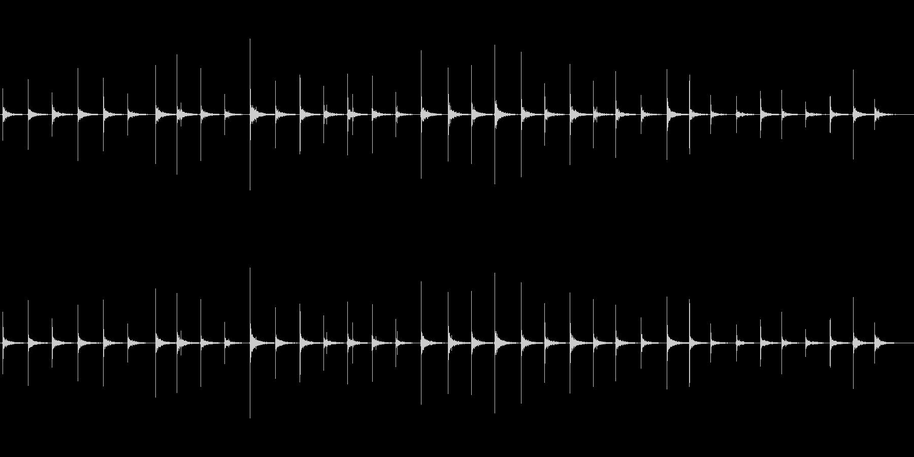 恐怖シリーズ9.ハイヒールで歩く音の未再生の波形