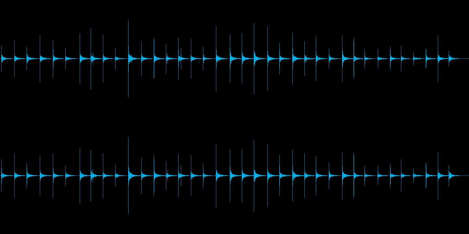 恐怖シリーズ9.ハイヒールで歩く音の再生済みの波形