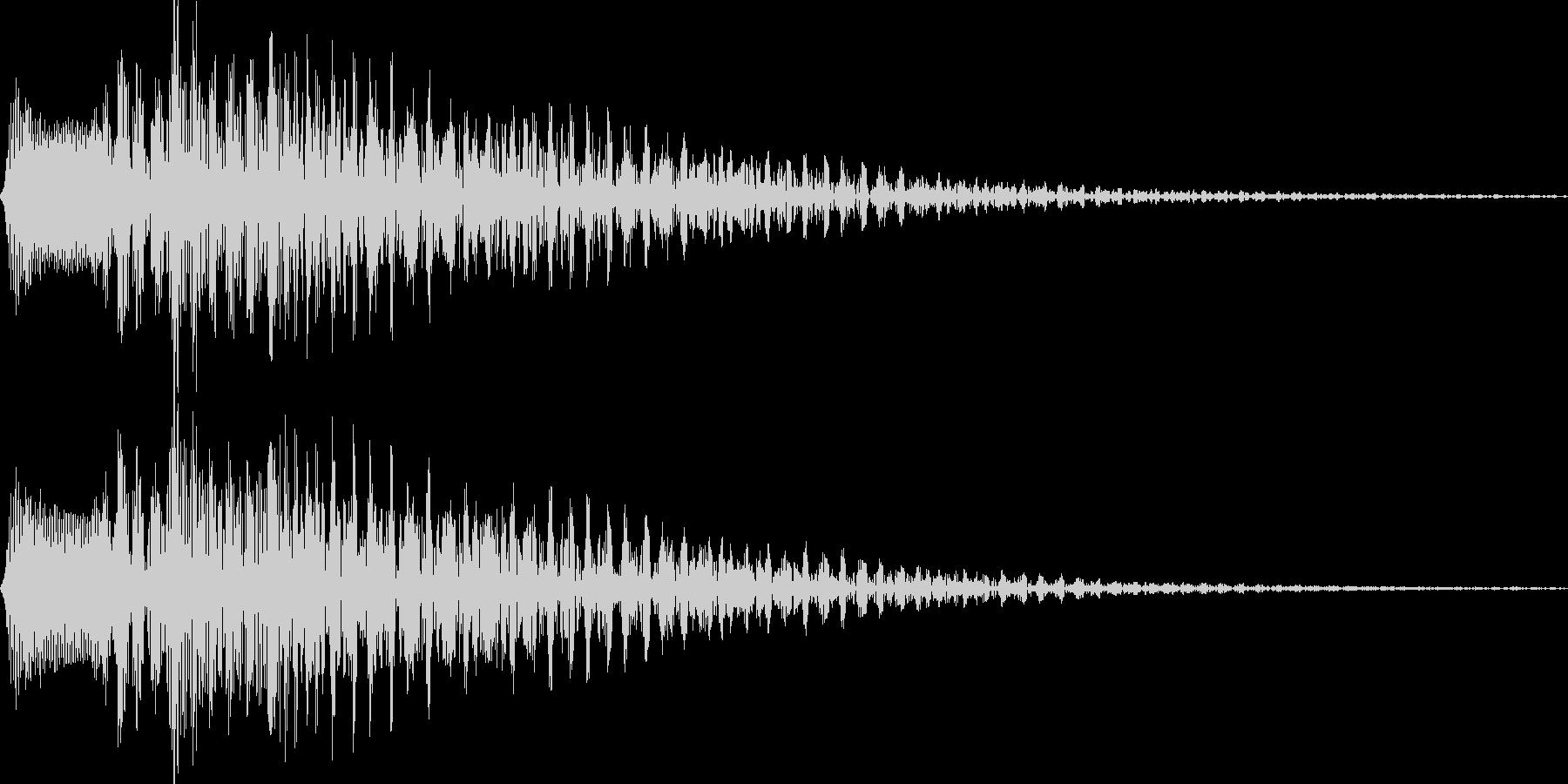 チロリン(アプリの決定音)の未再生の波形