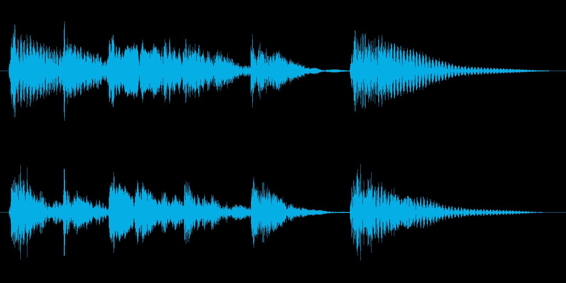 軽快 跳ねる 楽しい(ジングル、転換音)の再生済みの波形