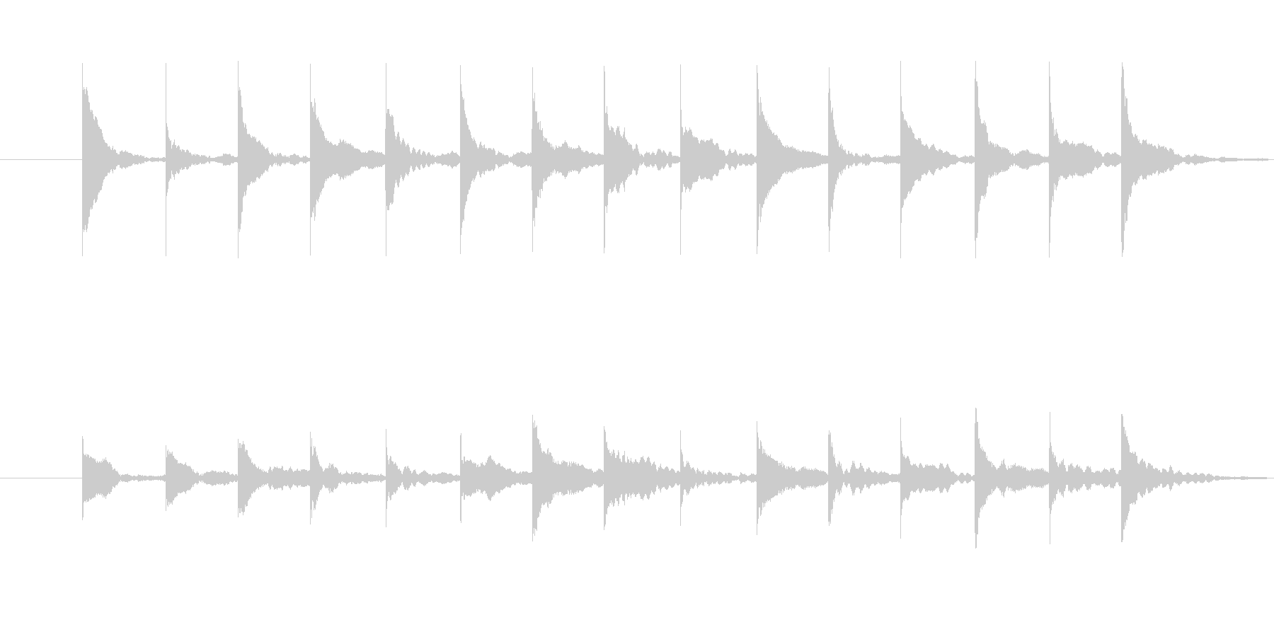 木琴の音 トリッキー ちょっとびっくりの未再生の波形