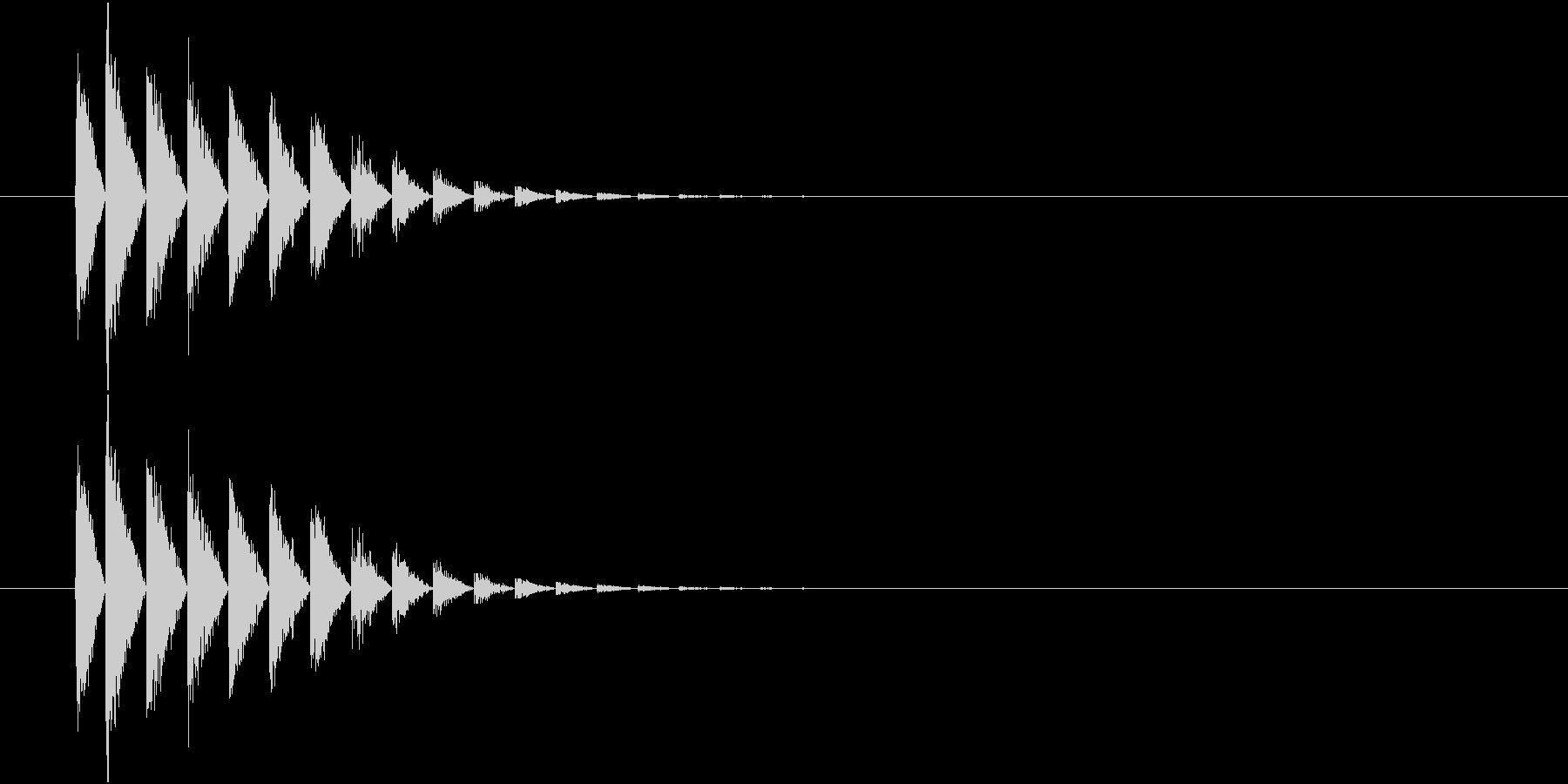 レトロな被弾、打撃、シューティングの未再生の波形