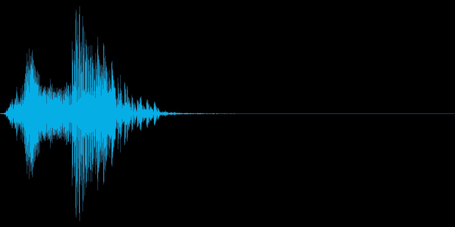 ゲーム掛け声男1ハッ1の再生済みの波形