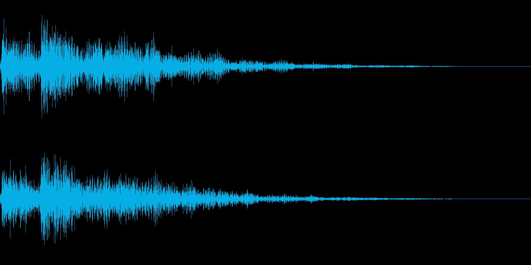 少しハードな印象のボタン音です。の再生済みの波形