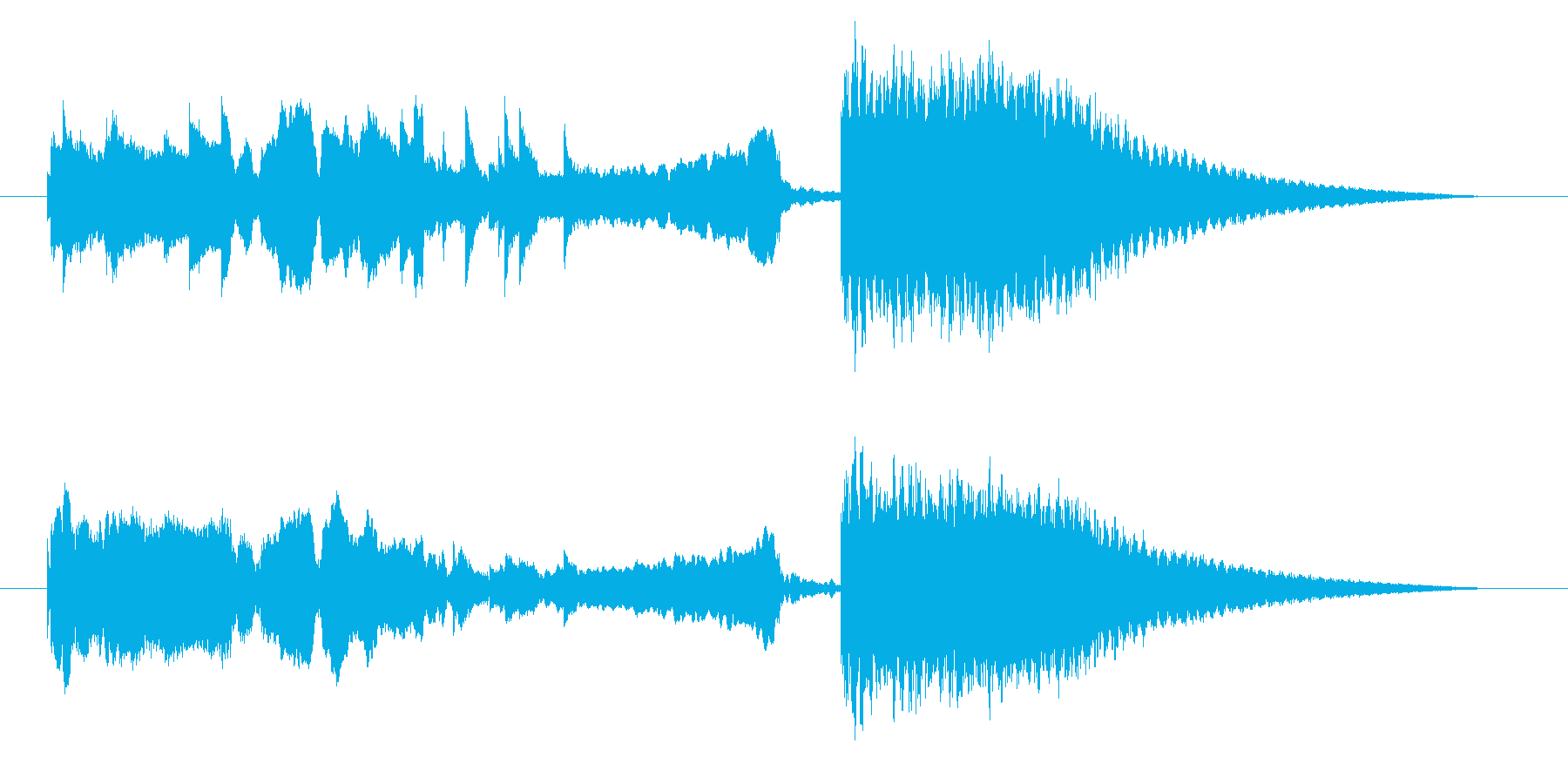 中国風アイキャッチ☆ジングル2の再生済みの波形