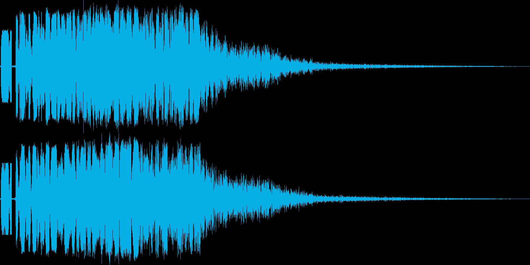 大キック(全力での重い蹴り)の再生済みの波形