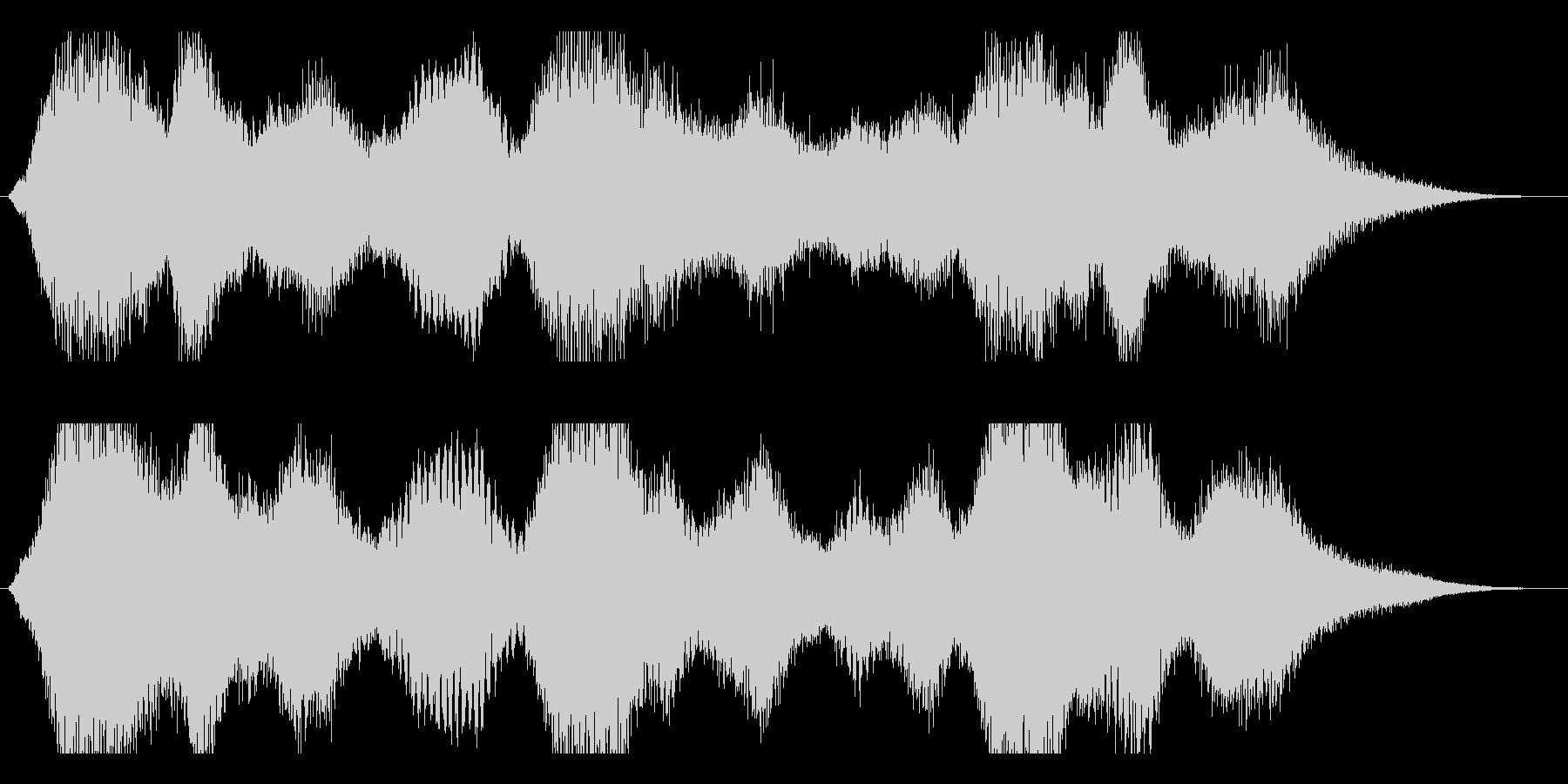 不気味な音の未再生の波形