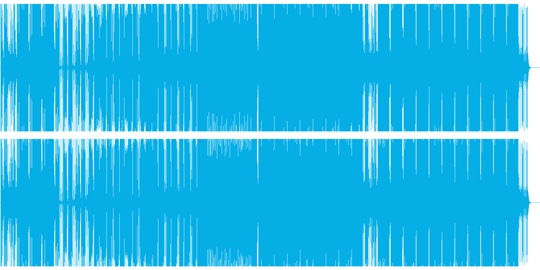 アップテンポで元気なビートサウンドの再生済みの波形