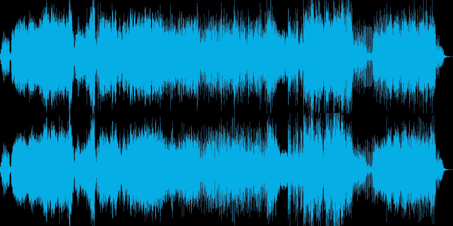 エスニック風の曲の再生済みの波形
