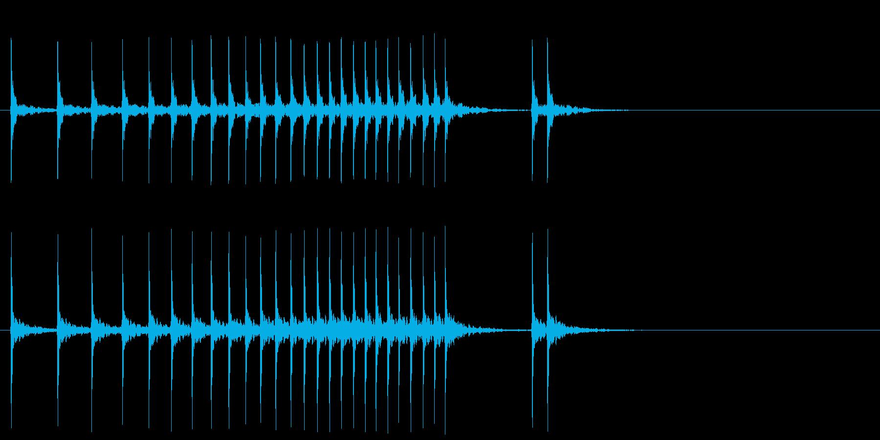 幕の開ける時の和楽器の音の再生済みの波形
