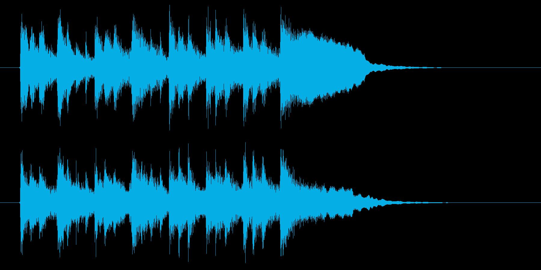 ほのぼのとした和み系BGMの再生済みの波形