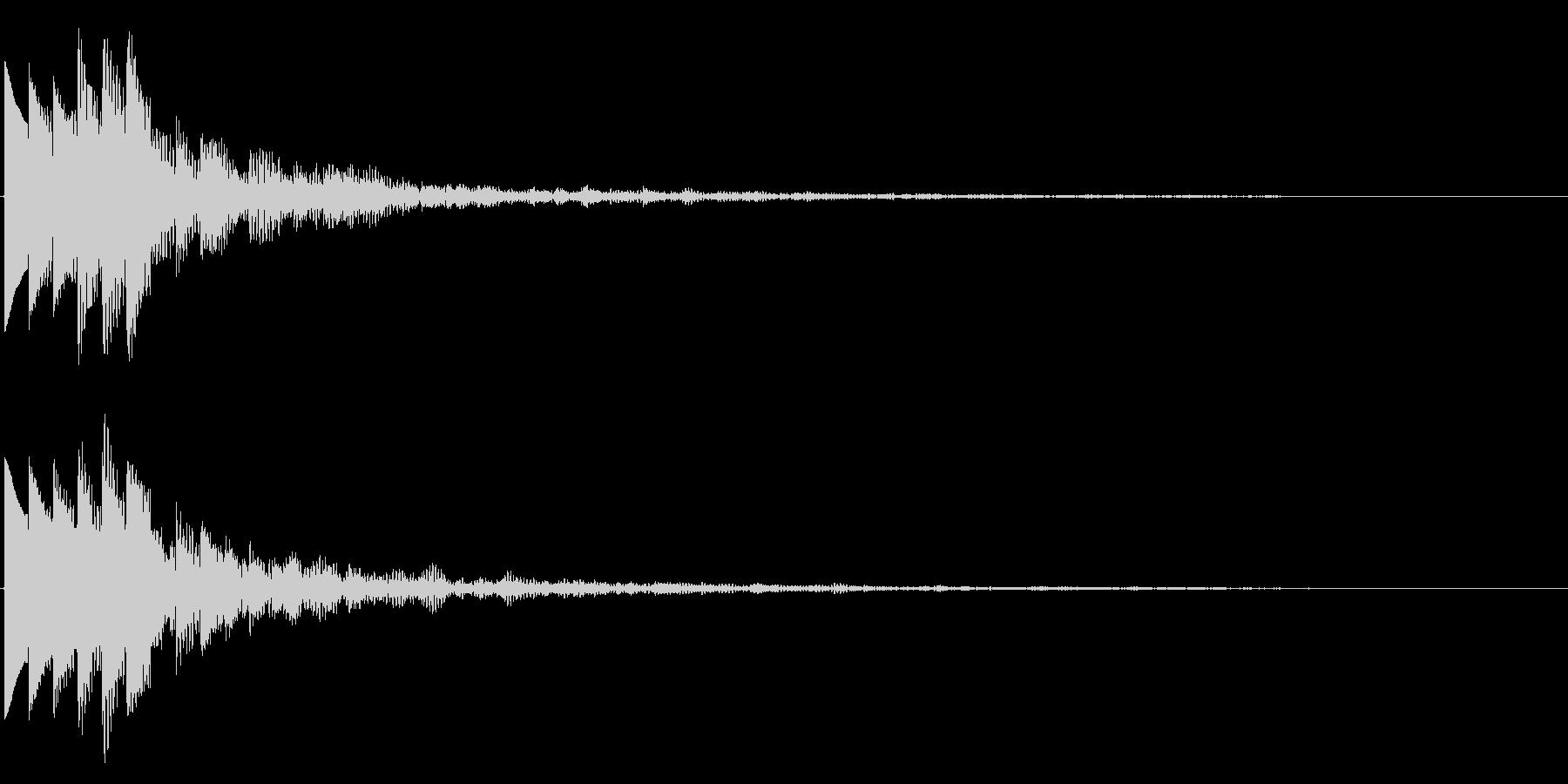 キラキラ/決定音/綺麗/エコーの未再生の波形