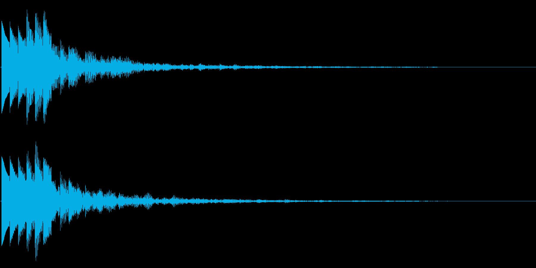 キラキラ/決定音/綺麗/エコーの再生済みの波形